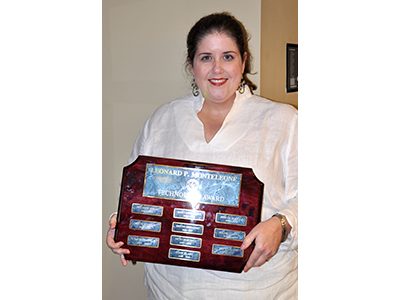 Cypress Cove Elementary Teacher Wins 2013 Monteleone Technology Award